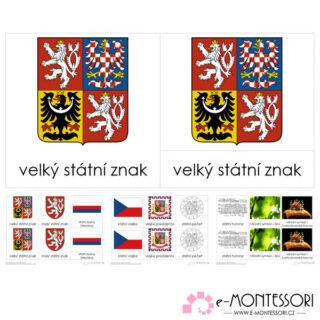 Montessori třísložkové karty Státní symboly