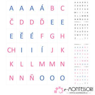 Montessori pohyblivá abeceda velká tiskací
