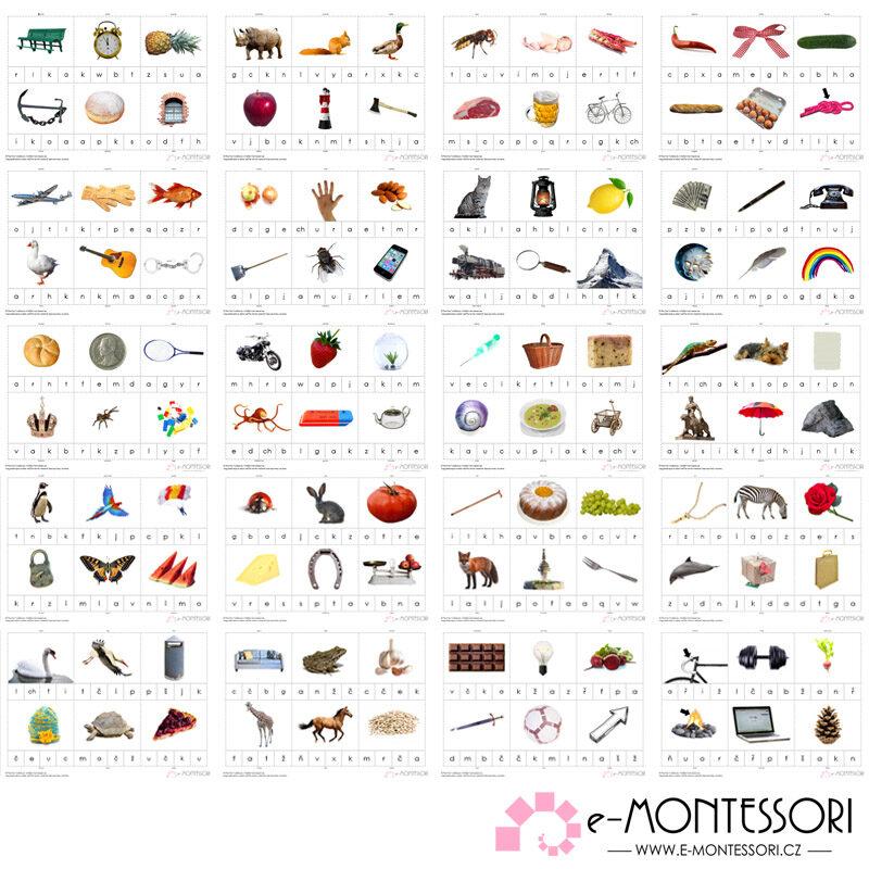 Montessori první a poslední písmeno