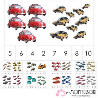Montessori kolíčkování auta