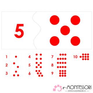 Puzzle čísla a puntíky