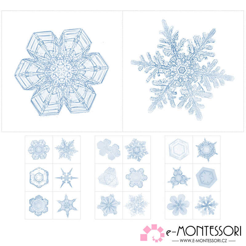 Montessori zima - skutečné vločky